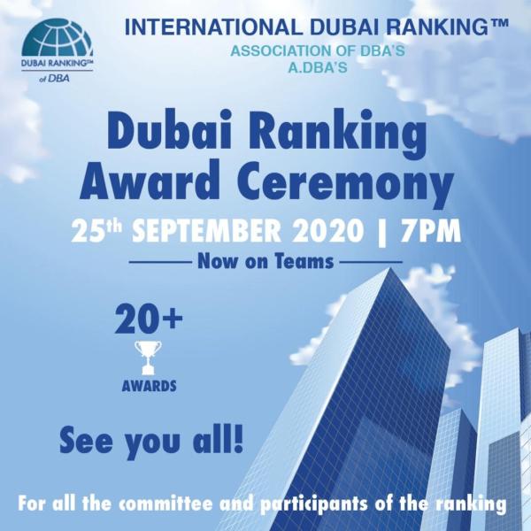 Dubai Ranking Award Ceremony